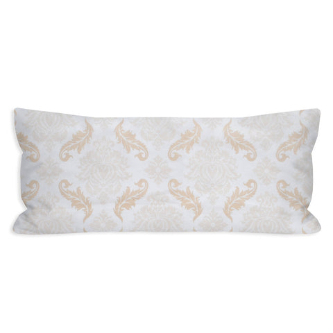 Barely There Ivory Damask Lumbar Pillow