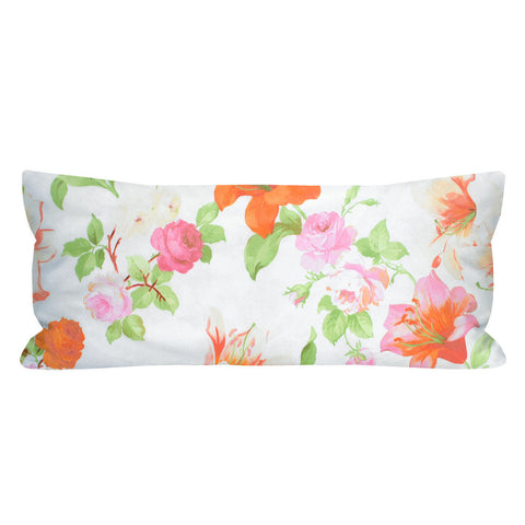 Vintage Exquisite O' Floral Lumbar Pillow