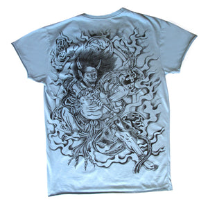 God of Thunder T Shirt - blue