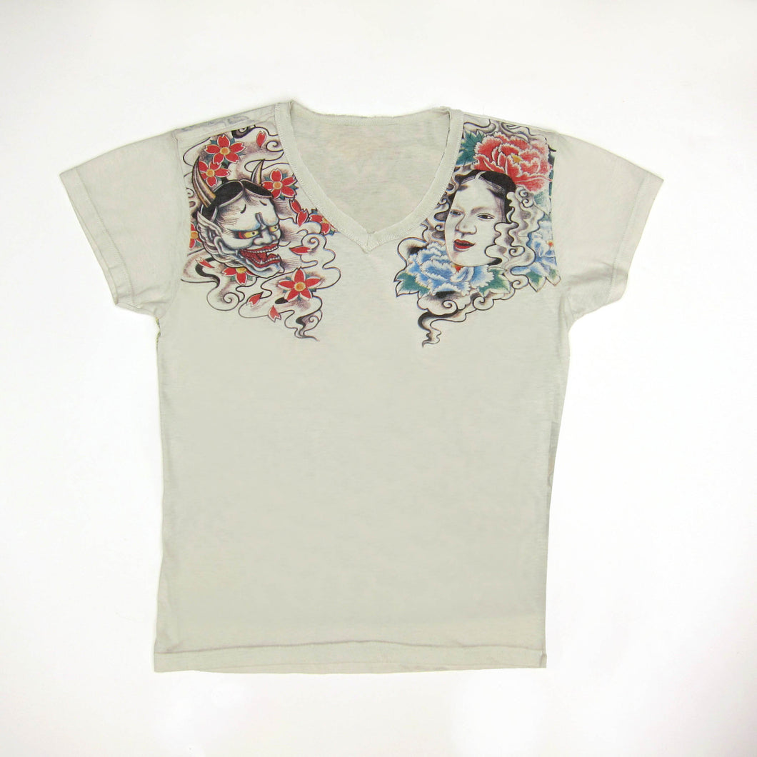 Noh Masks and Tiger of The Wild Tattoo T Shirt