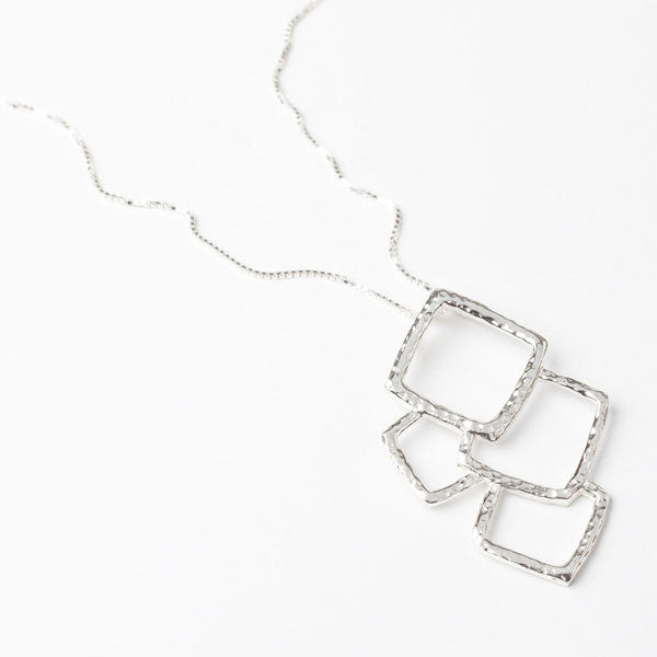 Ice Cube Pendant Necklace