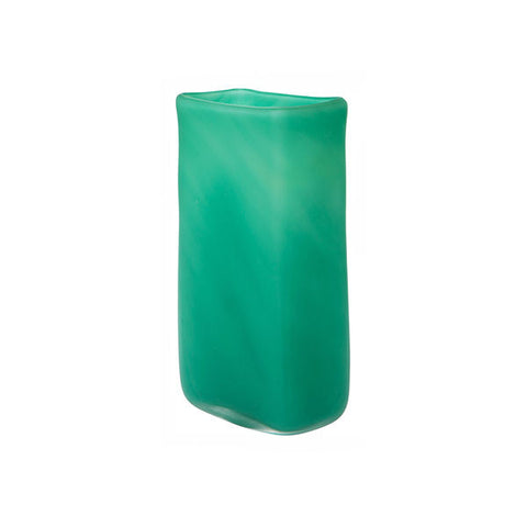 Frosty Jade Green Glass Vase