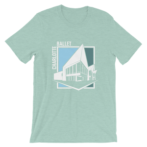 Charlotte Ballet building facade t-shirt by Anson Zwingelberg