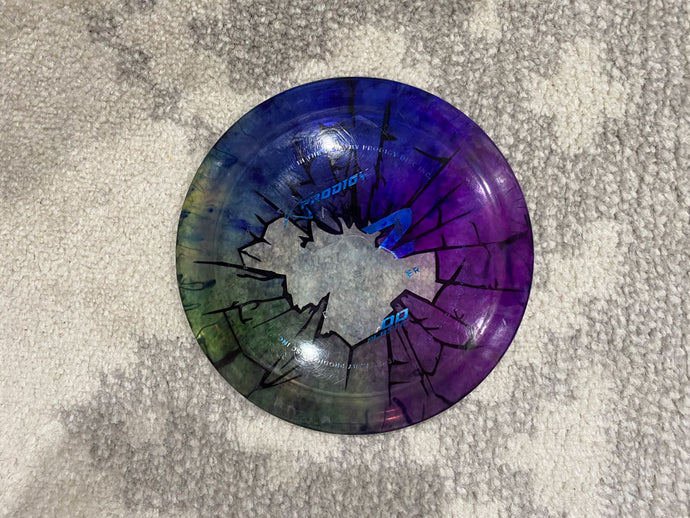 Broken Glass Stencil Dye on clear Prodigy D2