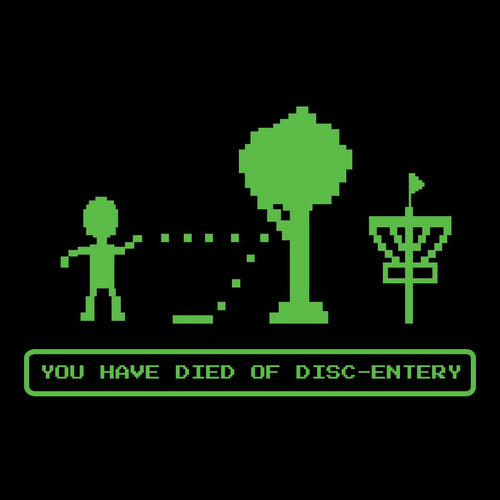 Died of Disc-entery Disc Golf Tee