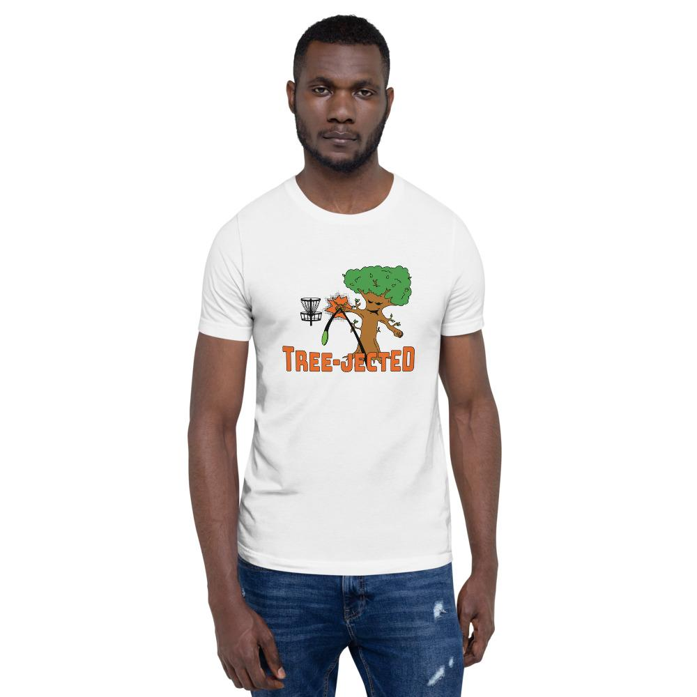 Tree-Jected Disc Golf Shirt in white