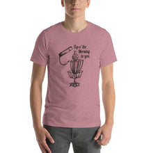 Load image into Gallery viewer, GentleBasket top of the morning disc golf shirt in orchid