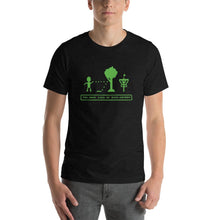Load image into Gallery viewer, Died of Disc-entery funny disc golf shirt in black