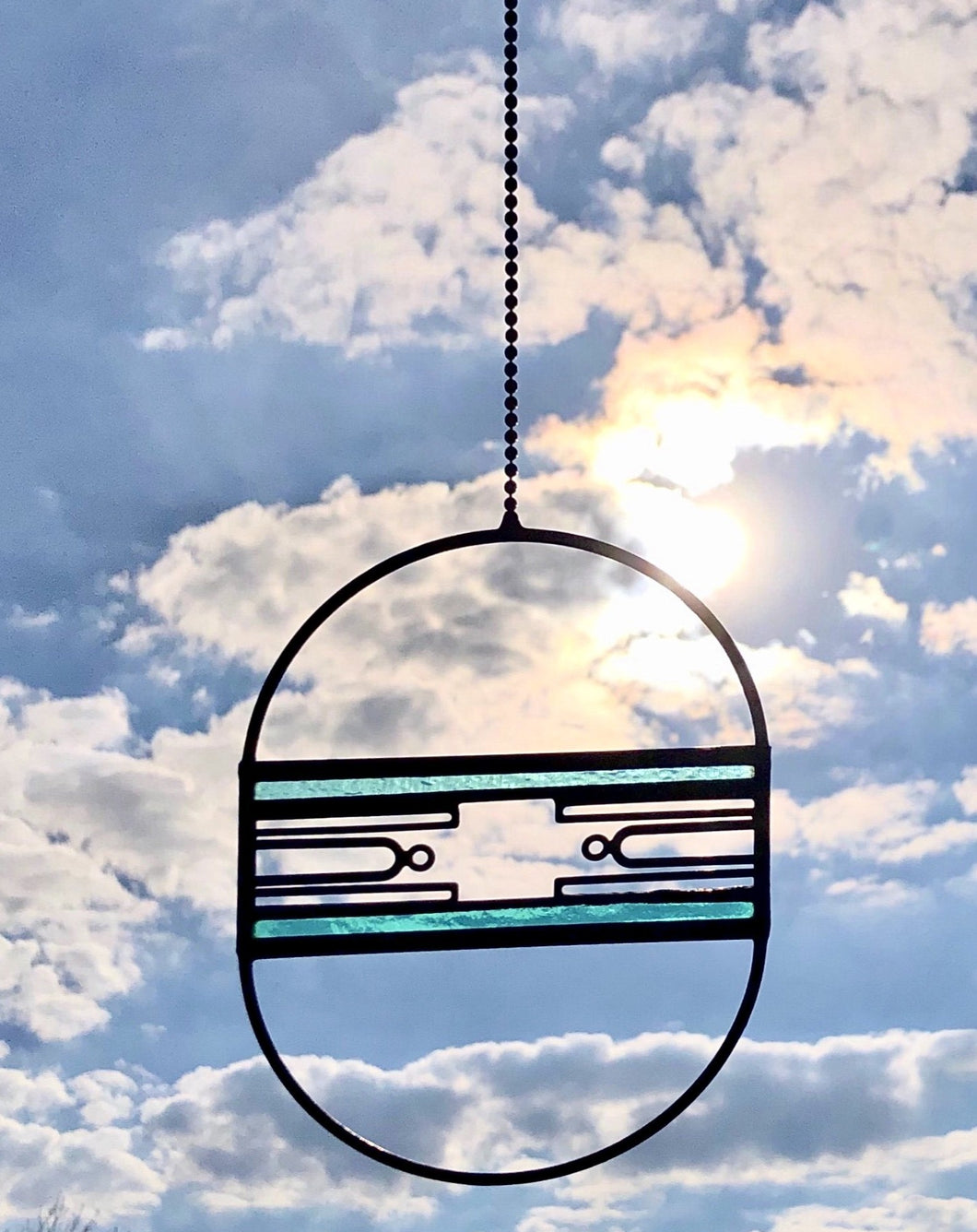 SMALL BLUE AERIAL SUNCATCHER