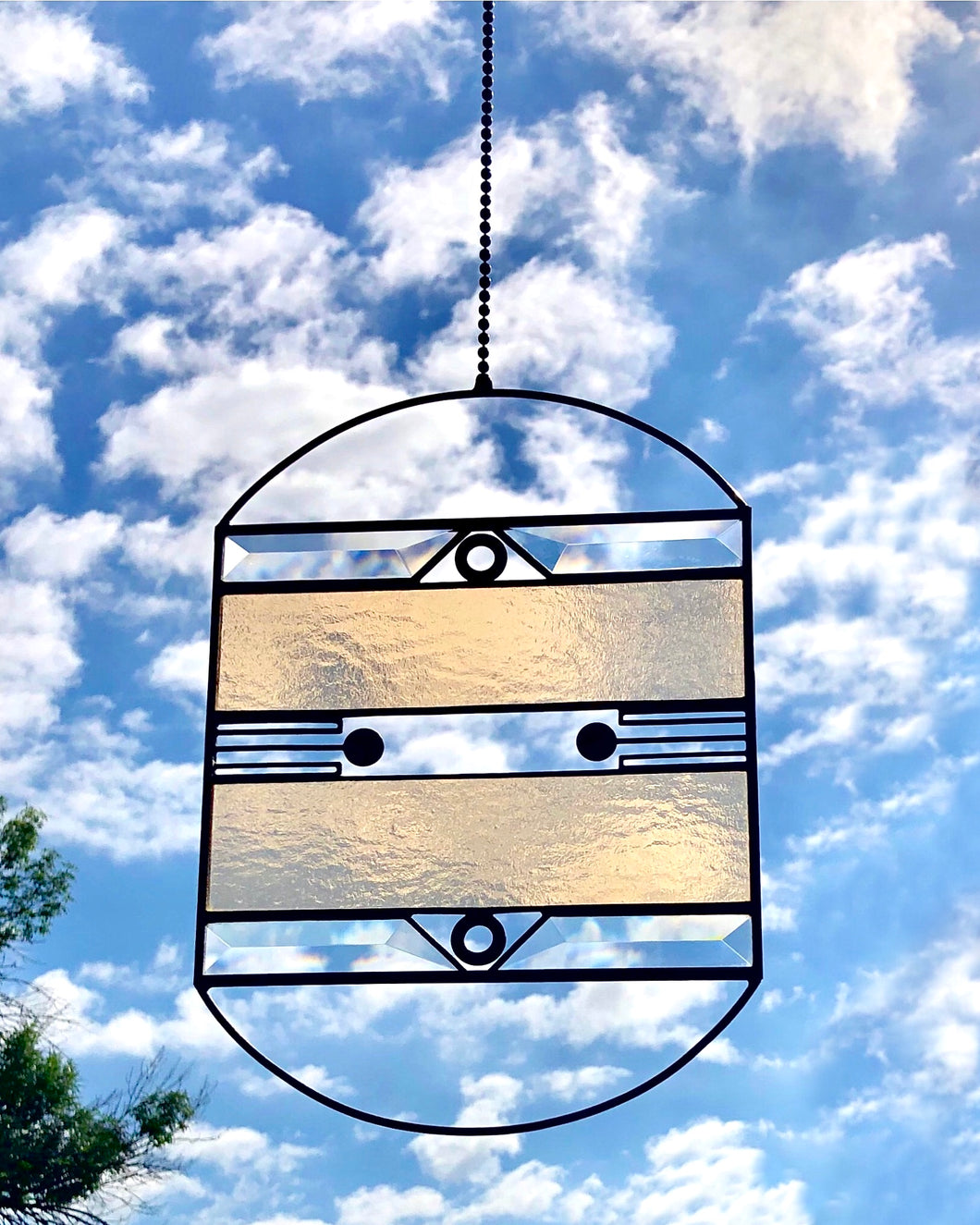 LARGE CHAMPAGNE AERIAL SUNCATCHER