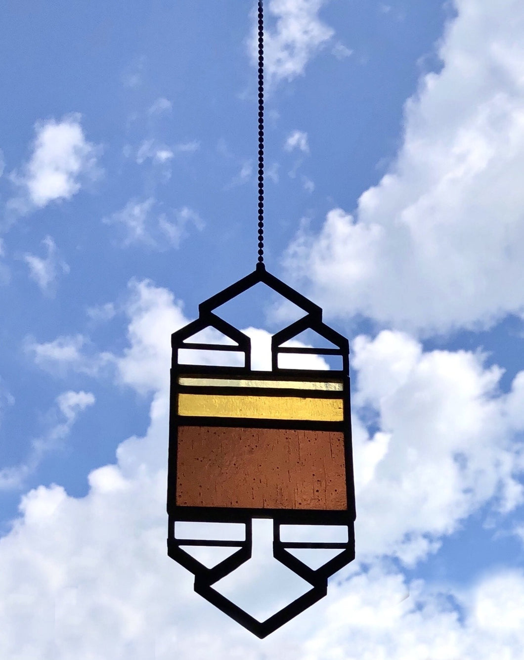 SMALL YELLOW/BROWN ELEVATION SUNCATCHER