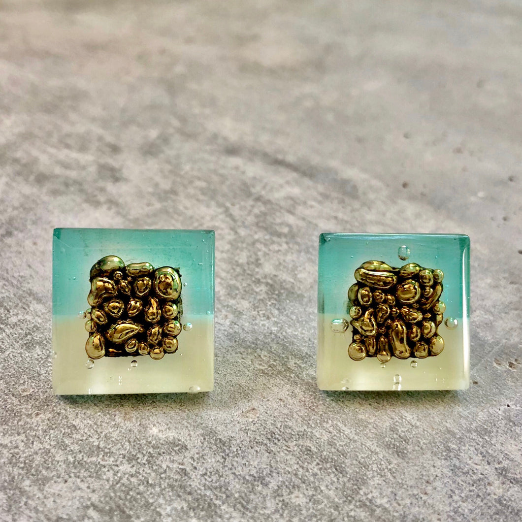 MINT/AQUA POST EARRINGS