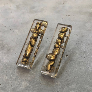 LONG CLEAR POST EARRINGS