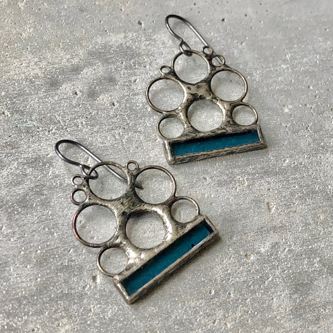 STEEL BLUE LUNA EARRINGS