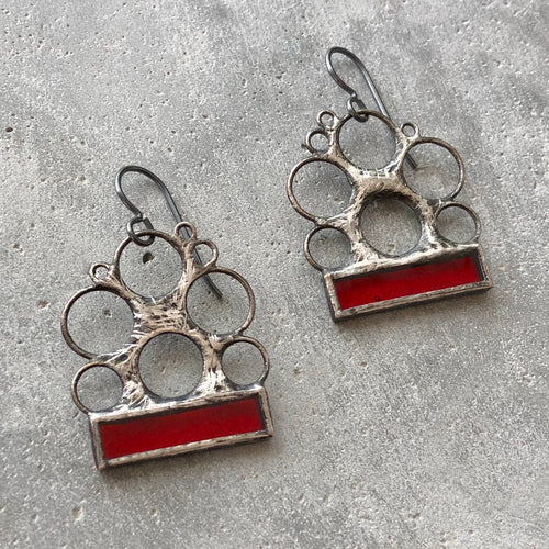 CRIMSON RED LUNA EARRINGS