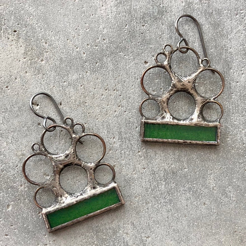 PISTACHIO GREEN LUNA EARRINGS