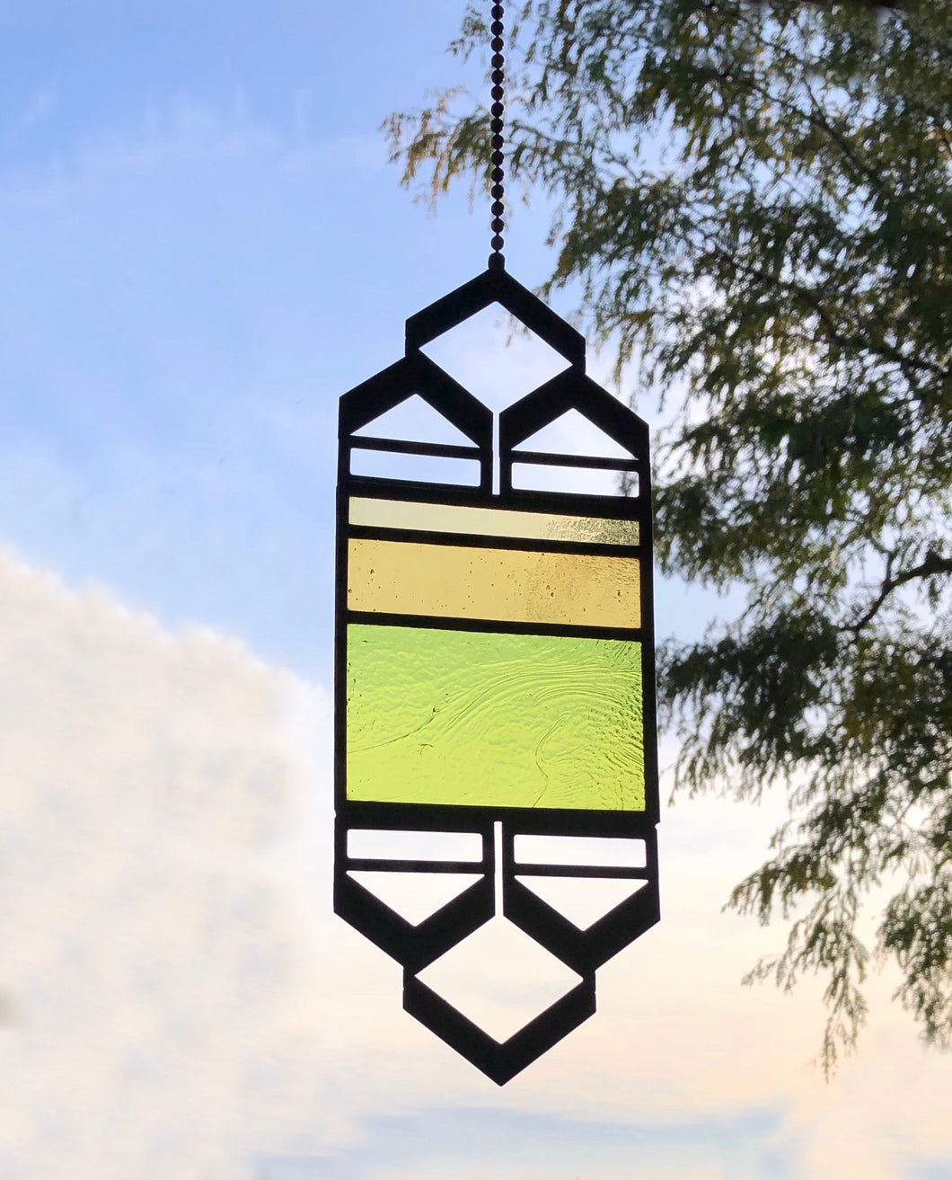 SMALL YELLOW/GREEN ELEVATION SUNCATCHER