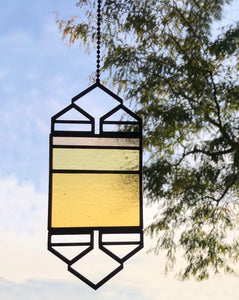 SMALL YELLOW/CHAMPAGNE ELEVATION SUNCATCHER