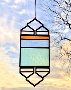 SMALL CORAL/BLUE ELEVATION SUNCATCHER