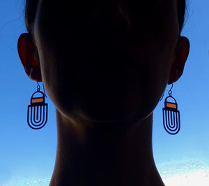SUNSET CORAL LABYRINTH EARRINGS