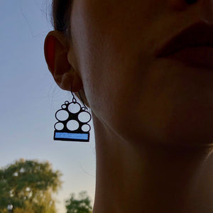 PERIWINKLE LUNA EARRINGS