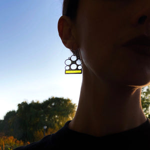 LEMON YELLOW LUNA EARRINGS