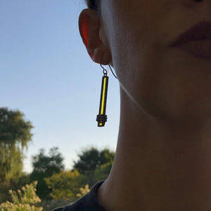 LEMON YELLOW MONUMENT EARRINGS