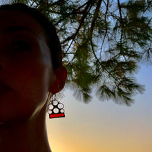 Load image into Gallery viewer, CRIMSON RED LUNA EARRINGS