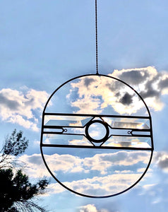 CLEAR BEVELED GLASS AERIAL SUNCATCHER