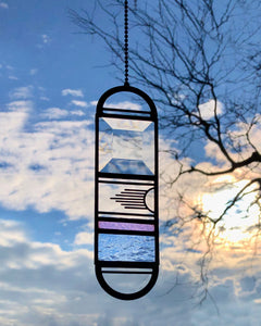 SMALL PINK/BLUE PENDULUM SUNCATCHER