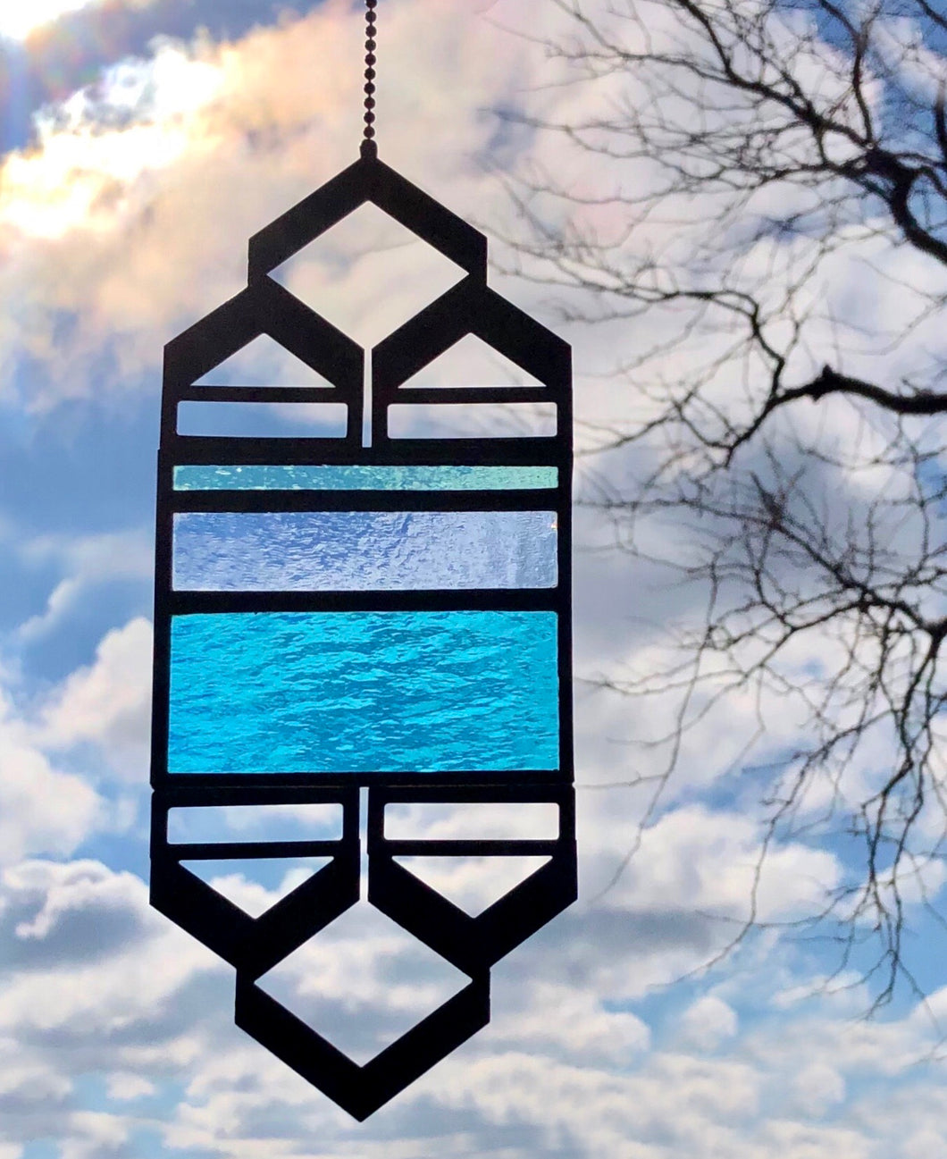 SMALL TURQUOISE/PERIWINKLE ELEVATION SUNCATCHERS