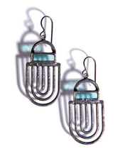 Load image into Gallery viewer, LIGHT AQUA LABYRINTH EARRING