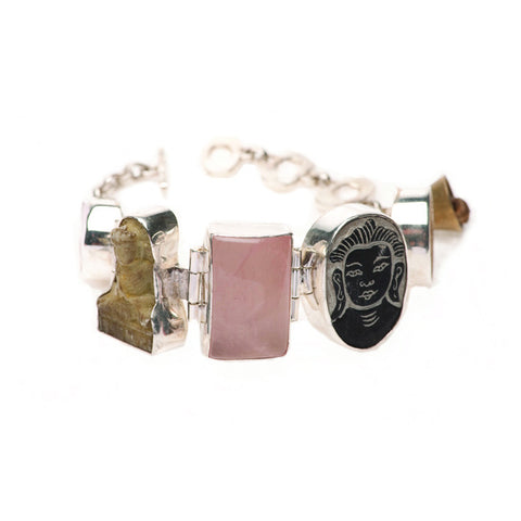 Lucky Buddha Bracelet Rose Quartz