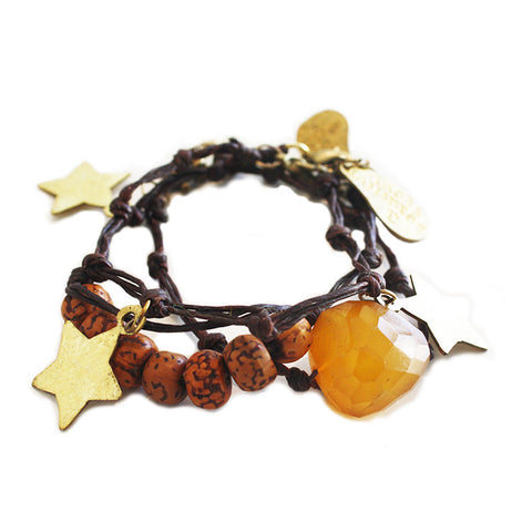 Shine-Like-A-Star Bracelets Brown