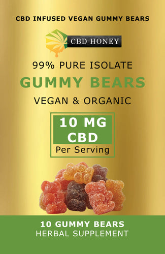 CBD Infused Vegan & Organic Gummy Bears Pouch