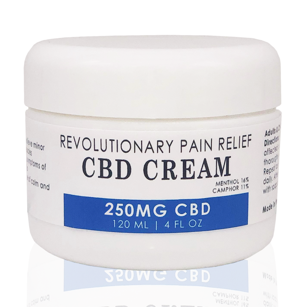 Revolutionary Pain Relief CBD Cream With Menthol
