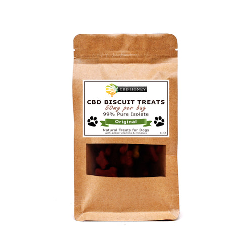 CBD Infused Biscuit Treats for Dogs Original Flavor 8 oz Bag