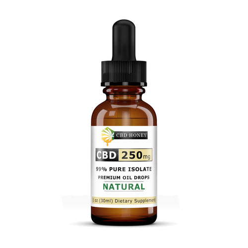 All Natural Full Spectrum CBD Oil Blend 250 mg 1 oz Bottle