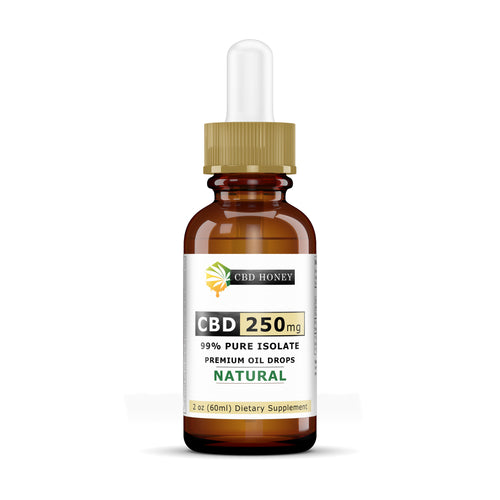 All Natural Full Spectrum CBD Oil Blend 250 mg 2 OZ Bottle