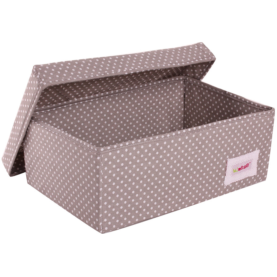small box in grey polka dot