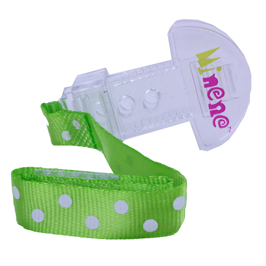 green and white spot dummy clip