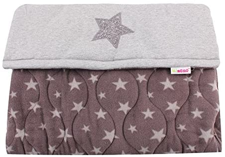 Cosy Footmuff - Dark Grey with Light Grey Stars