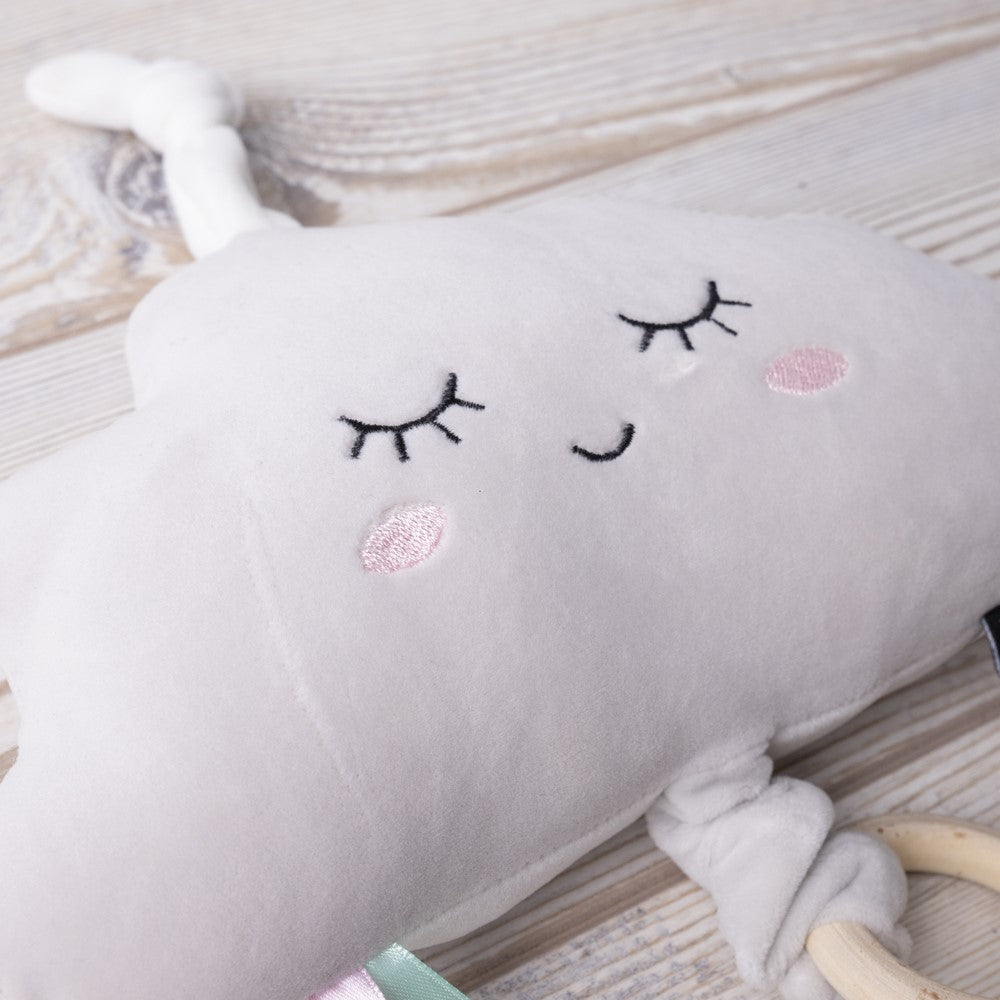 Velvet Feel Soft Music Toy - White Cloud