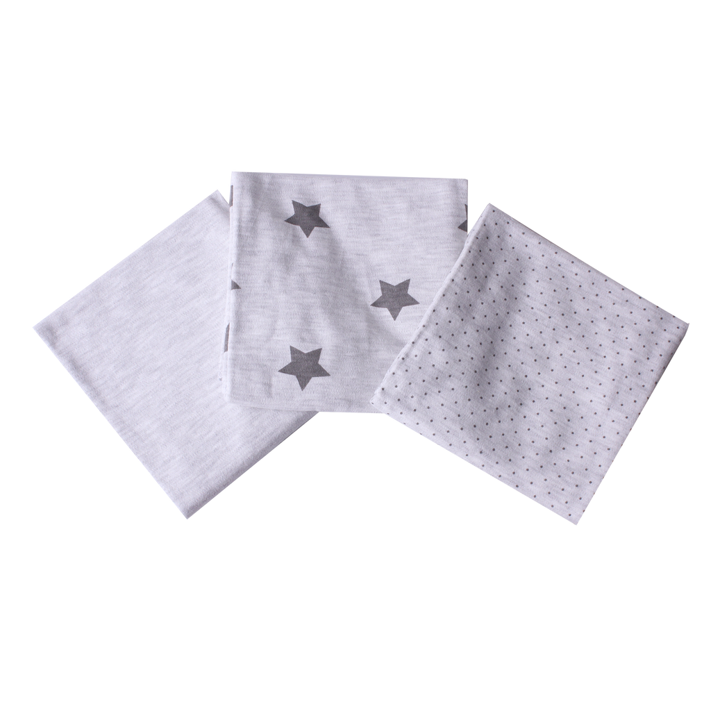 grey star dribble cloths