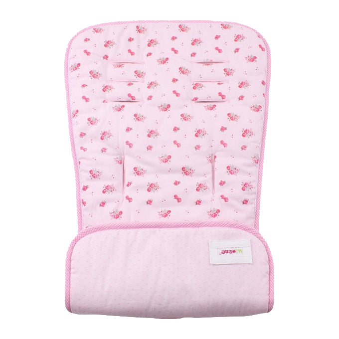 Universal Reversible Pushchair Liner - Pink spring blossoms