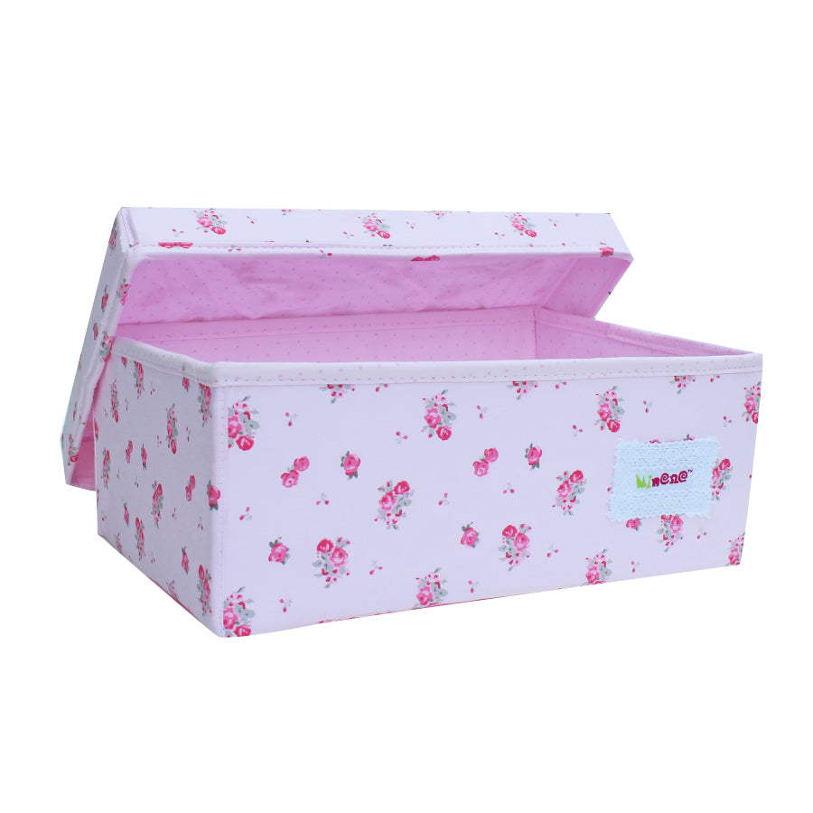Small box in pink with pink blossom print