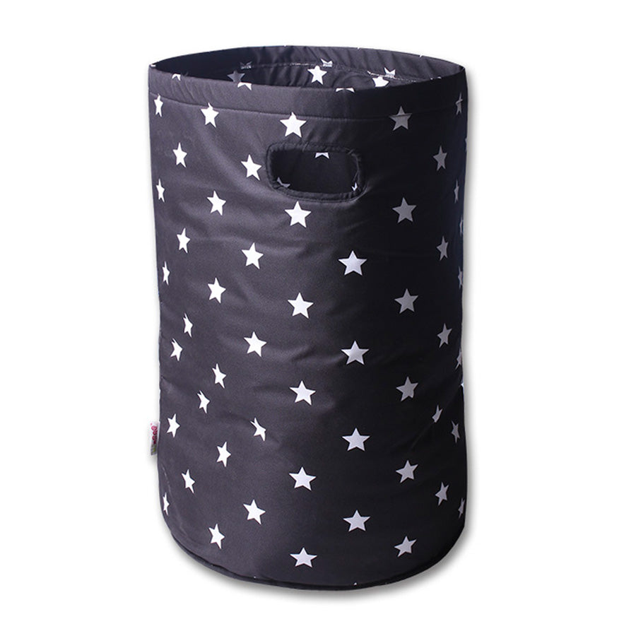 Laundry basket Black with white stars