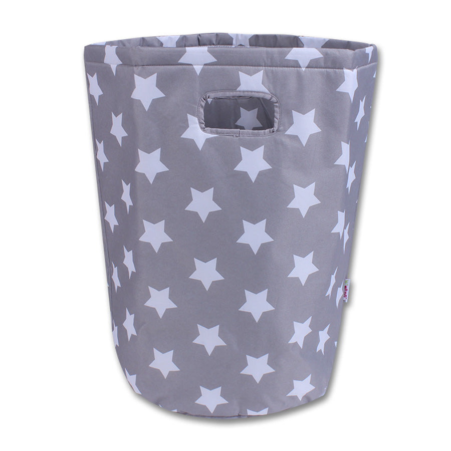 Laundry basket Grey with white stars