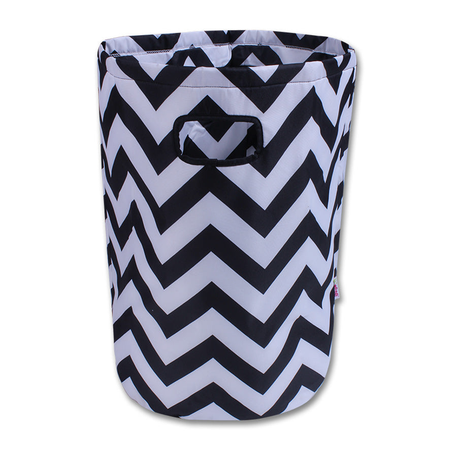 Laundry basket- black and white chevron