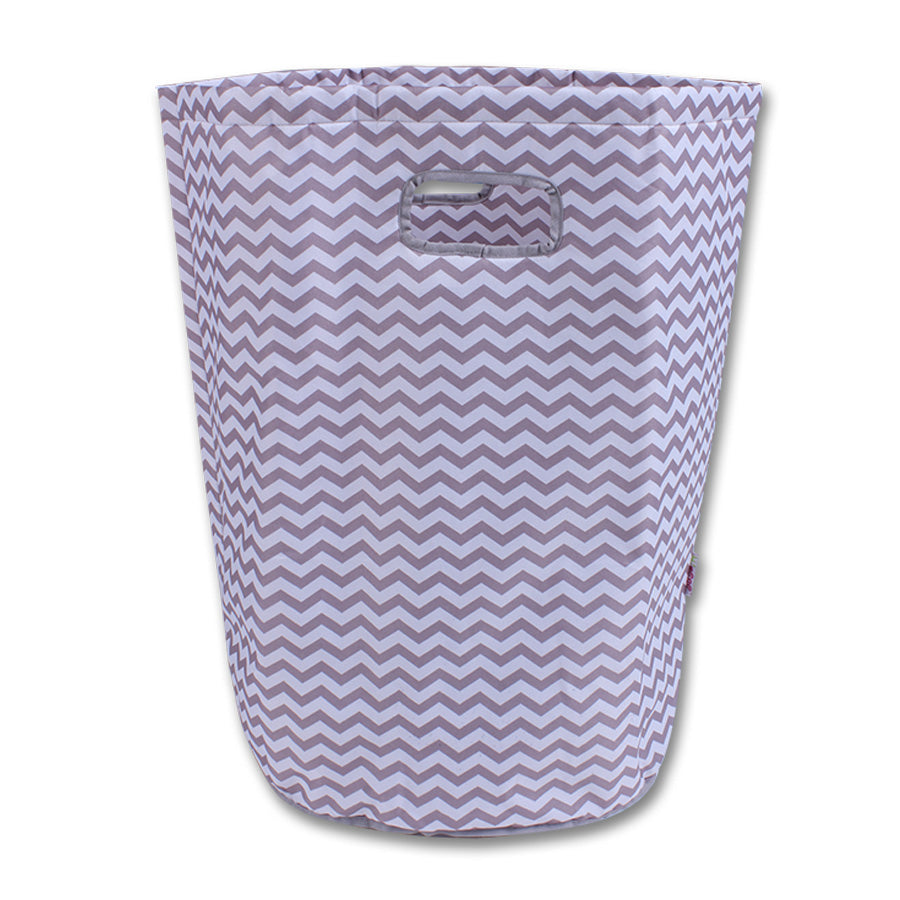 Laundry basket- Grey and white chevron